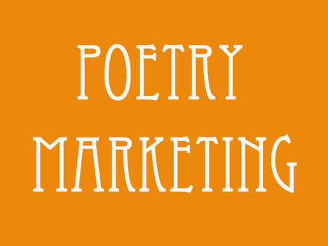 Poetry marketing, street marketing, flyers