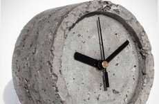 Textured Concrete Time-Tellers