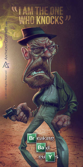 breaking bad caricatures