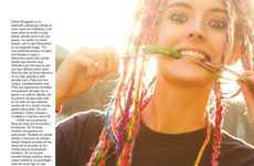 Rainbow-Hued Braided Hairstyles