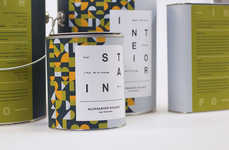 Abstractly Patterned Pigment Cans