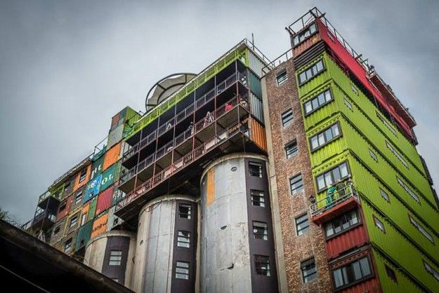 Green Shipping Container Dorms