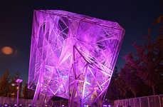 Illuminated Cube Installations