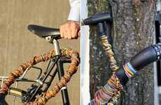 Colorful Twine Bike Locks