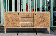 Upcycled Plywood Cabinets
