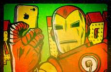 Superhero Selfie Illustrations