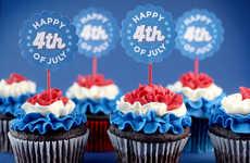 Patriotic Ruffled Cupcakes
