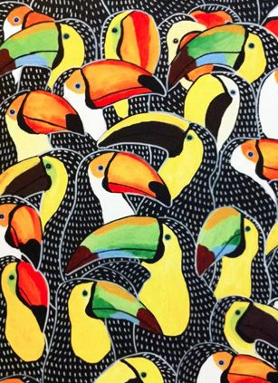 Exotic Bird Paintings