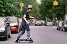 Snowboard-Mimicking Skateboards