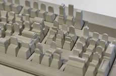 Architectural Keyboard Sculptures