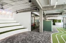 Sports Pitch-Inspired Offices