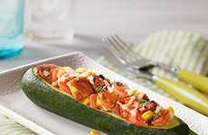 Spicy Stuffed Zucchini