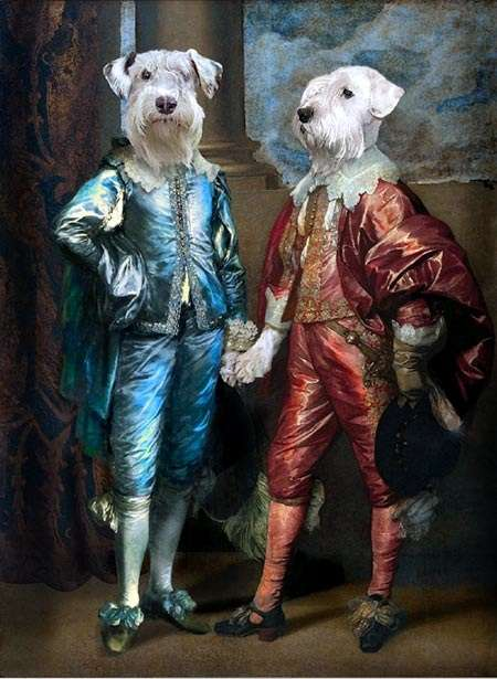 Aristocratic Dog Paintings