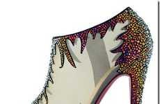 Bedazzled Rainbow Heels